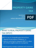 PRESENTATION 3 REAL PROPERTY GAINS TAX