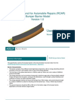 RCAR Bumper Barrier Model for RCAR Structural Test