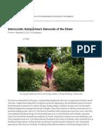 Underhill - Democratic Kampuchea's Genocide of the Cham | diaCRITICS Dec 2010