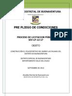 PREPLIEGO DE CONDICIONES