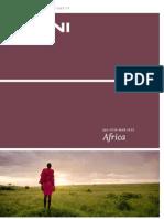 Kuoni Africa holidays brochure 2011