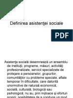 definirea asistentei sociale