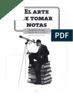 01 Thomas, K. (2010) - El arte de tomar notas