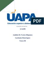 Analisis Hispanos - Tarea III de ELAINE