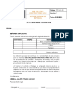 ACTA ENTREGA DE DOTACION