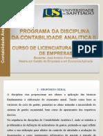 PROGRAMA DA CONTABILIDADE ANALITICA II UNISANTIAGO.ppt