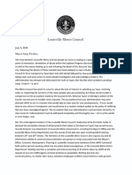 Metro Council Transparency Letter to Mayor