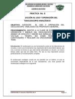 P_8 INTRODUCCION AL USO Y OPERACION DEL OSCILOSCOPIO ANALOGICO