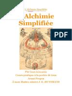 L'alchimie simplifiée R.Schwaeble