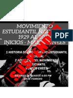 movimiento estudiantil nacional 1929 al 2020 mane-unees