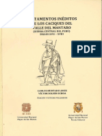 2016 - Hurtado, Carlos y Victor Solier - Testamentos ineditos de los caciques del Valle del Mantaro.pdf