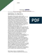 Folha de S.Paulo - Editoriais_ REFORMA NA PRÁTICA - 14_06_2003