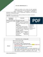 Guía de Aprendizaje de Inmunología Grupo A
