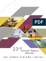 Annual Report 31 March 2009 HBLPOWER