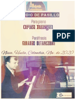 ESTUDIO DE PASILLO. Para piano.  Oriol Rangel. Paráfrasis Gerardo Betancourt.