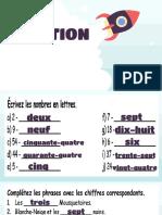 Français 2eme - Tema 2 - Les nombres 0 a 100 - CLASSE
