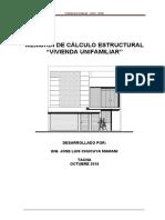 memoria de calculo de estructuras modelo