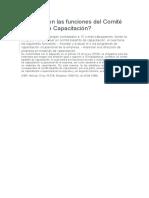 Cuáles son las funciones del Comité Bipartito de Capacitación