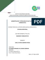 ADMINISTRACIÓN DE UNA PP FARMACÉUTICA PDF