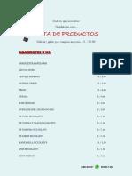 CATALOGO PRECIOS