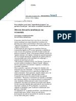 Folha de S.Paulo - Guerra dos juros_ Dirceu descarta mudanças na economia - 14_06_2003