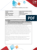 FORMATO PARA EL DESARROLLO DEL PASO 2