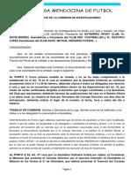 Despacho de La Comisión de Investigaciones -  LMF
