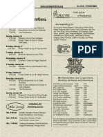 January 16, 2011 Bulletin
