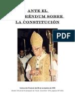 ANTE EL REFERÉNDUM SOBRE LA CONSTITUCIÓN