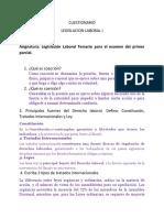 Cuestionario legislacion laboral 1 parcial 1