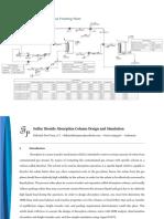 Sulfur Dioxide Absorption Column Design