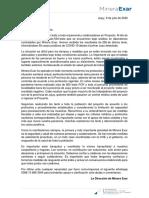 Minera Exar Comunicado Interno 090720 2020 Int2