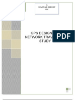 Gps Design for Network Travel Time Study