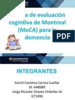 Prueba de evaluación cognitiva de Montreal (MoCA)