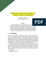 Barth-Mineraçao de regras de associaçao em servidores Web com RapidMiner