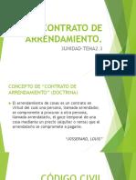 (tema 2.3)diapos adicionales-EL CONTRATO DE ARRENDAMIENTO