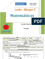 Plan 1er Grado - Bloque 2 Matemáticas