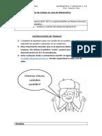 Guía 2 de  matemática 1°básico
