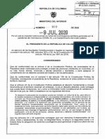 Decreto 990 Del 9 de Julio de 2020