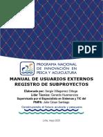 Manual de Usuarios Externos (Registro Subproyecto)