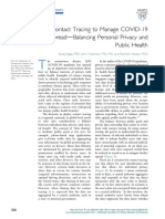 Contact Tracing to Manage COVID-19
