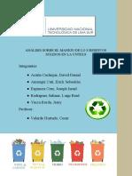 """""""Análisis de manejo de residuos sólidos en la UNTELS"""" Grupo 6"""