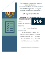 INFORME DE LA ESTIMACIÓN DE RIESGO DEL CERRO SAN CRISTÓBAL