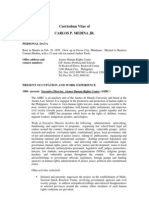 Carlos P. Medina, Jr. (Curriculum Vitae)