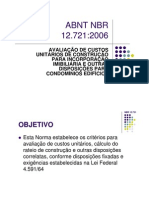 Microsoft Power Point - Aula ABNT NBR 12721
