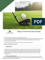 Reglas y fundamentos básicos del golf
