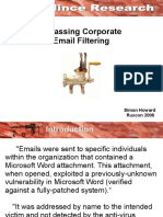 Bypassing Corporate Email Filtering