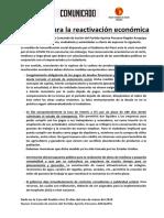 Medidas para la reactivación económica