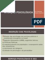ATUAÇÃO PSICOLÓGICA