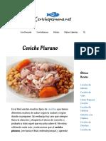 Ceviche Piurano